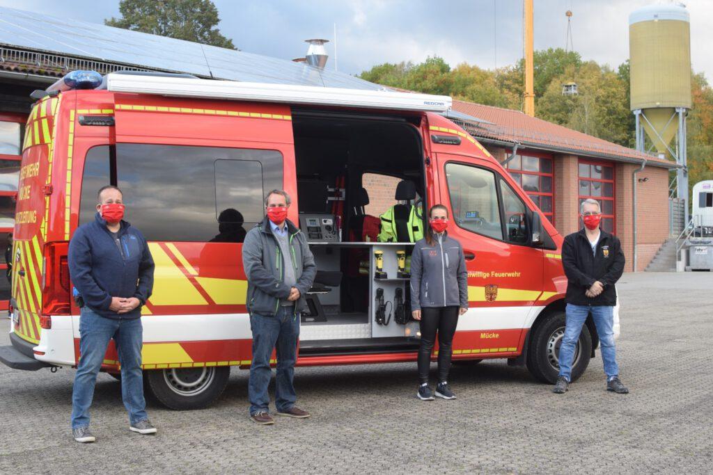 MK spendet Alltagsmasken für die freiwillige Feuerwehr Mücke